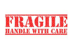 FRAGILE- HANDLE WITH CARE Stock Illustration