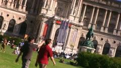 Heldenplatz Vienna (dutch angle) 3 Stock Footage