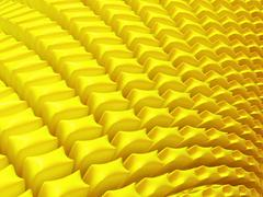 Close-up of abstract yellow petals Stock Illustration