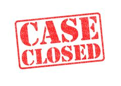 CASE CLOSED Stock Illustration