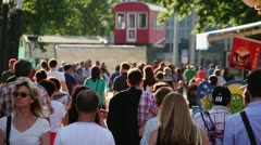 Crowd at Prater Stock Footage