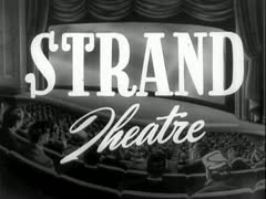 "Stock Video Footage of ""STRAND THEATRE"" Vintage Retro Theater Announcement"