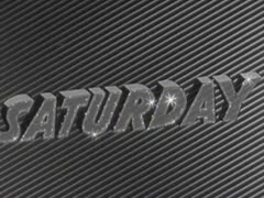 """Vintage Retro, """"Saturday"""" dater strip from the 1940's. Stock Footage"""