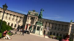Heldenplatz Vienna (dutch angle) 2 Stock Footage