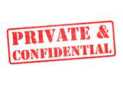 PRIVATE & CONFIDENTIAL stamp Stock Illustration