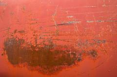 rusty red metal tank texture. - stock photo