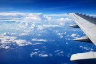 View from the airplane window, Stock Photos