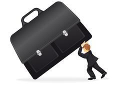 business man with a suitcase - stock illustration
