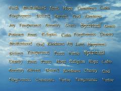 Religious Words - stock illustration