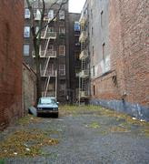 Abandoned yard, manhattan, new york Stock Photos