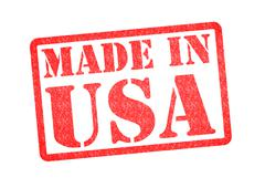 Stock Illustration of MADE IN USA rubber stamp