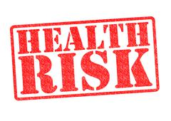 HEALTH RISK rubber stamp Stock Illustration