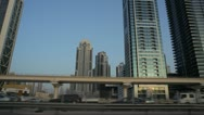 Dubai Business Bay Stock Footage