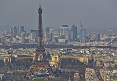 the city of paris with its palaces, monuments and wonders.. - stock photo
