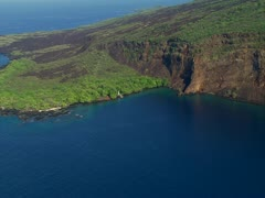 Kealakekua Bay and Cook Monument Stock Footage