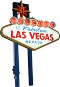 Welcome to Las Vegas - stock photo
