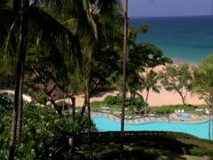 Hapuna Beach Prince Hotel - stock footage