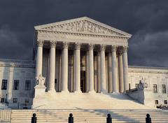 supreme court afternoon - stock photo