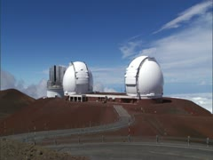 Keck Observatories on Mauna Kea Stock Footage