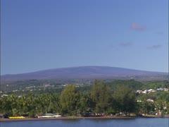 Mauna Loa with Hilo Bay Stock Footage