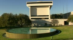 Kid Playing At LBJ Library Austin Texas Stock Footage