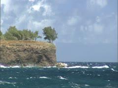 Windy Point at Keokea Beach Stock Footage