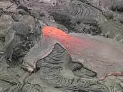 Lava Flow on Mauna Loa Stock Footage
