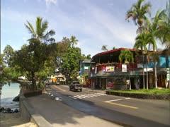Ali'i Drive in Kailua Kona Stock Footage