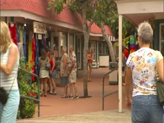 Shopping in Kailua Kona Stock Footage