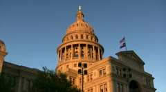 Texas State Capitol Building Austin Texas Stock Footage