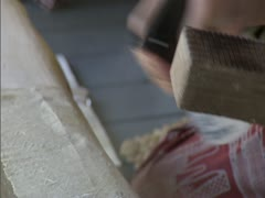 Tapa Cloth Production Stock Footage