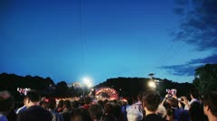 Sommernachtskonzert Stage and People Stock Footage