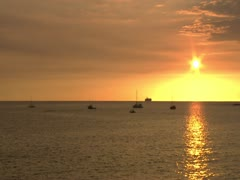 Sunset over Kailua Bay Stock Footage