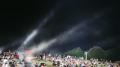 Concert - Crowd on a hill in the night (time lapse) Stock Footage