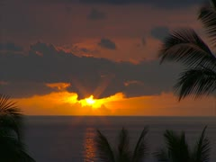 Keauhou Bay Sunset Stock Footage
