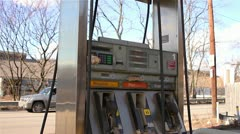 Stock Video Footage of Rundown Abandoned Gas Pump on the Side of the Road