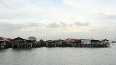 Historical Chew Jetty Heritage Site Sunset Timelapse 1080p Stock Footage