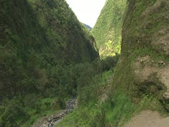 Pololu Valley, Hamakua Coast Stock Footage