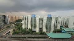 Punggol Estate Apartment Buildings in Singapore Timelapse 1080p Stock Footage