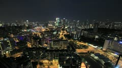 Singapore City Skyline with Clarke Quay at Night Timelapse 1080p Stock Footage