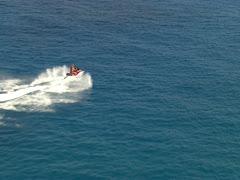 Jet Ski on the Ocean Stock Footage