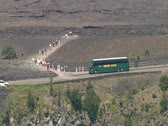 Halema_uma_u Crater in Hawaii Volcanoes National Park Stock Footage