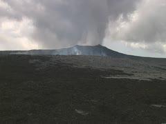 Kilauea Volcano Smoking Stock Footage