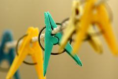 Fabric hangers - stock photo