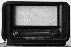 Antique radio tuner - stock photo