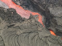 Kilauea Volcano Lava Flow Stock Footage