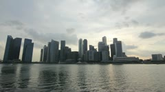 Singapore Financial District Skyline at Sunset Timelapse 1080p Stock Footage