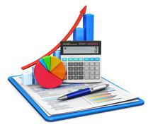 Finance and accounting concept Stock Illustration