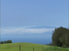 Haleakala on Maui from Hawaii Island - stock footage