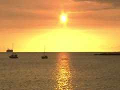 Sunset on Kona Coast Stock Footage